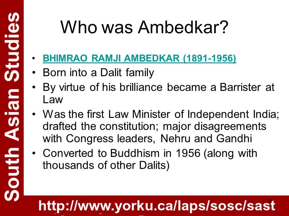 9 Who was Ambedkar.
