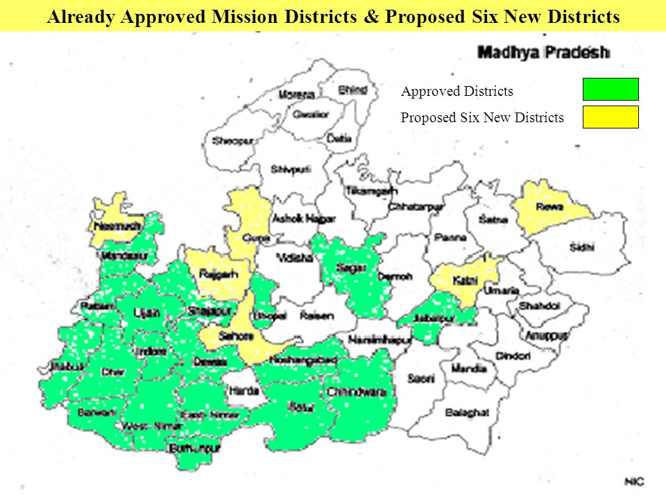 Already Approved Mission Districts & Proposed Six New Districts Approved Districts Proposed Six New Districts