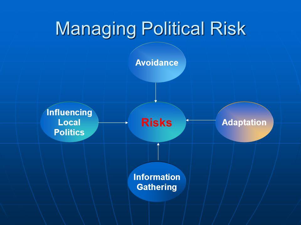 Managing Political Risk Influencing Local Politics Information Gathering Adaptation Avoidance Risks