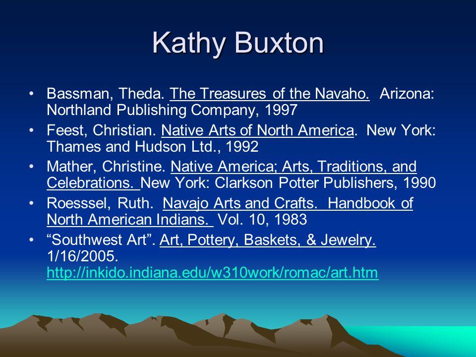 Kathy Buxton Bassman, Theda. The Treasures of the Navaho.
