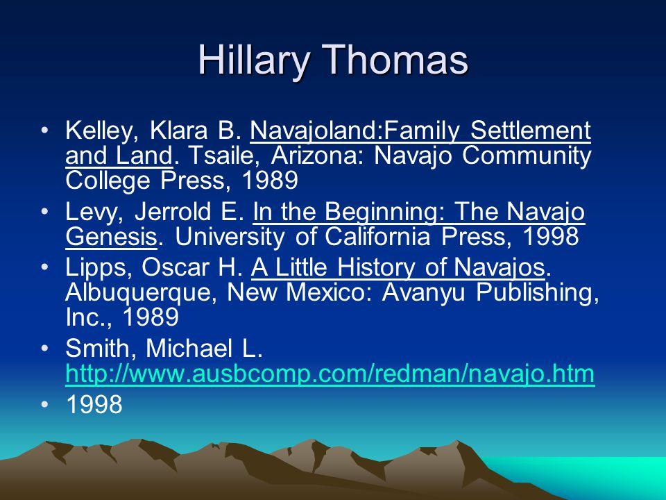 Hillary Thomas Kelley, Klara B. Navajoland:Family Settlement and Land.