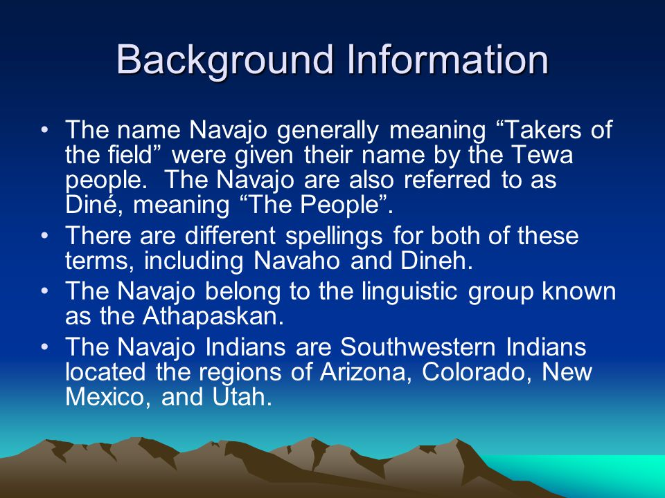What is the name of the spiritual force that the Navajo's believe in.