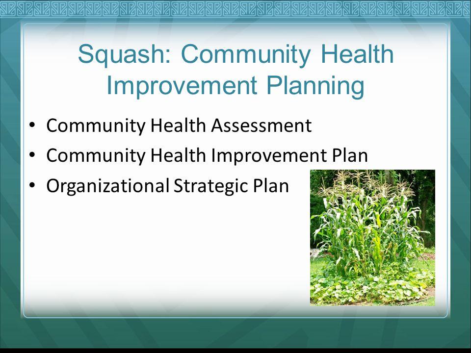 Squash: Community Health Improvement Planning Community Health Assessment Community Health Improvement Plan Organizational Strategic Plan