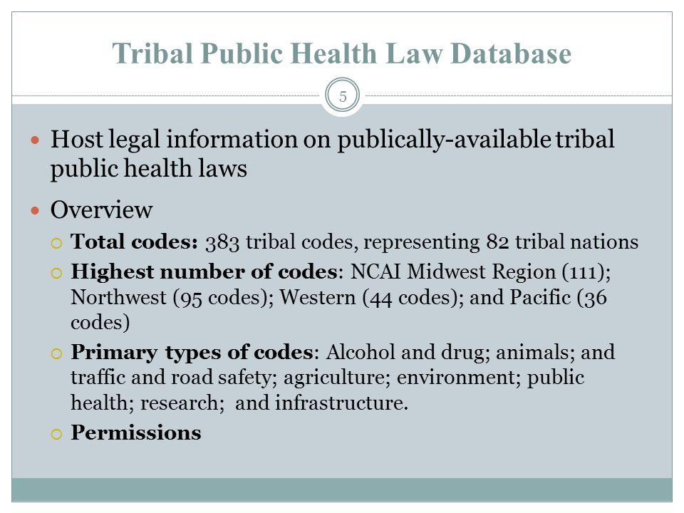 6 Tribal Public Health Law Database