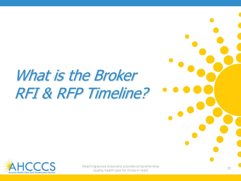 What is the Broker RFI & RFP Timeline.