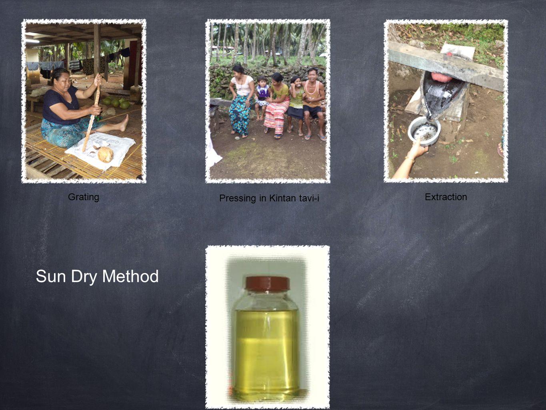 Sun Dry Method GratingExtraction Pressing in Kintan tavi-i