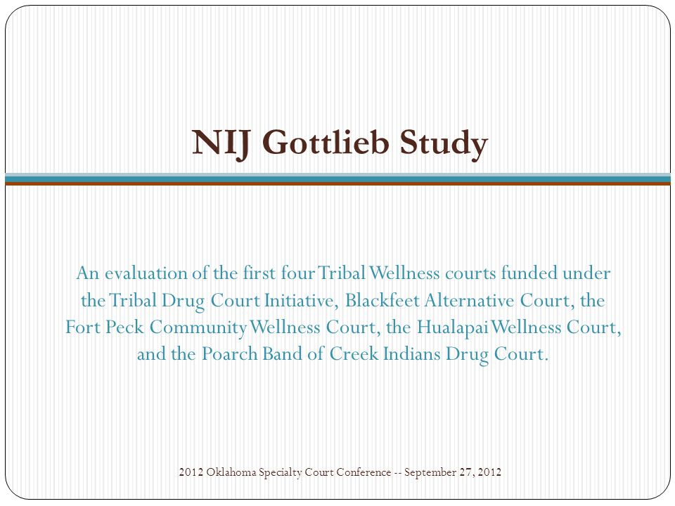 Tribal Wellness Court brings together alcohol and drug treatment, community healing resources, and the tribal justice process by using a team approach to achieve the physical and spiritual healing of the individual participant, and to promote Native nation building and the well-being of the community.