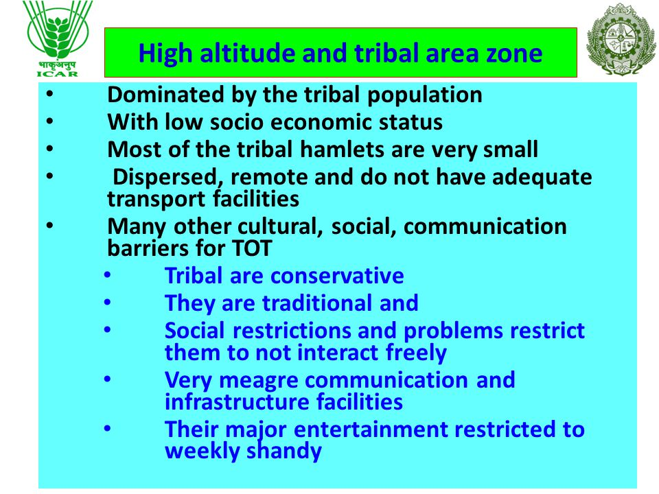 District falls under Two Agro climatic Zones Plain coastal Areas zone High Altitude and tribal Zone Variation in Socio economic, educational, cultural, climatic, situational, soils and topography etc.,