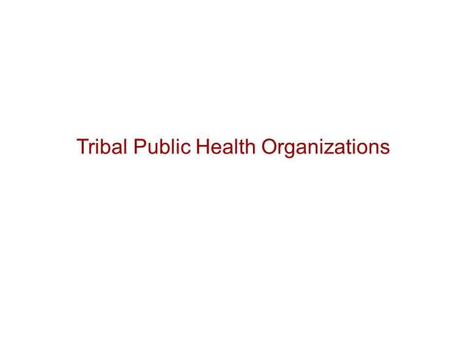 Tribal Public Health Organizations