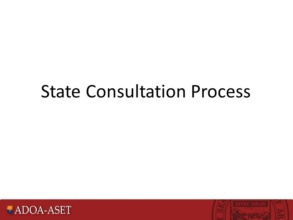 State Consultation Process