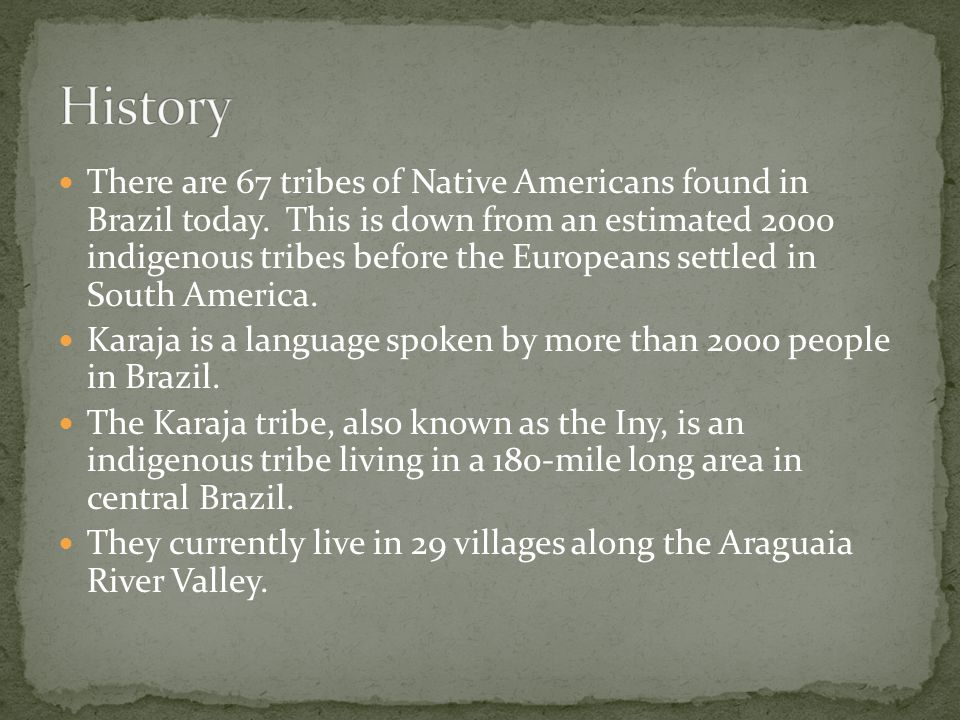 There are 67 tribes of Native Americans found in Brazil today.