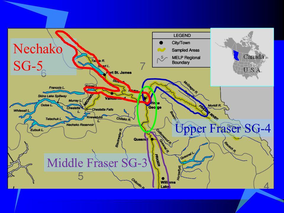 Nechako SG-5 Upper Fraser SG-4 Middle Fraser SG-3