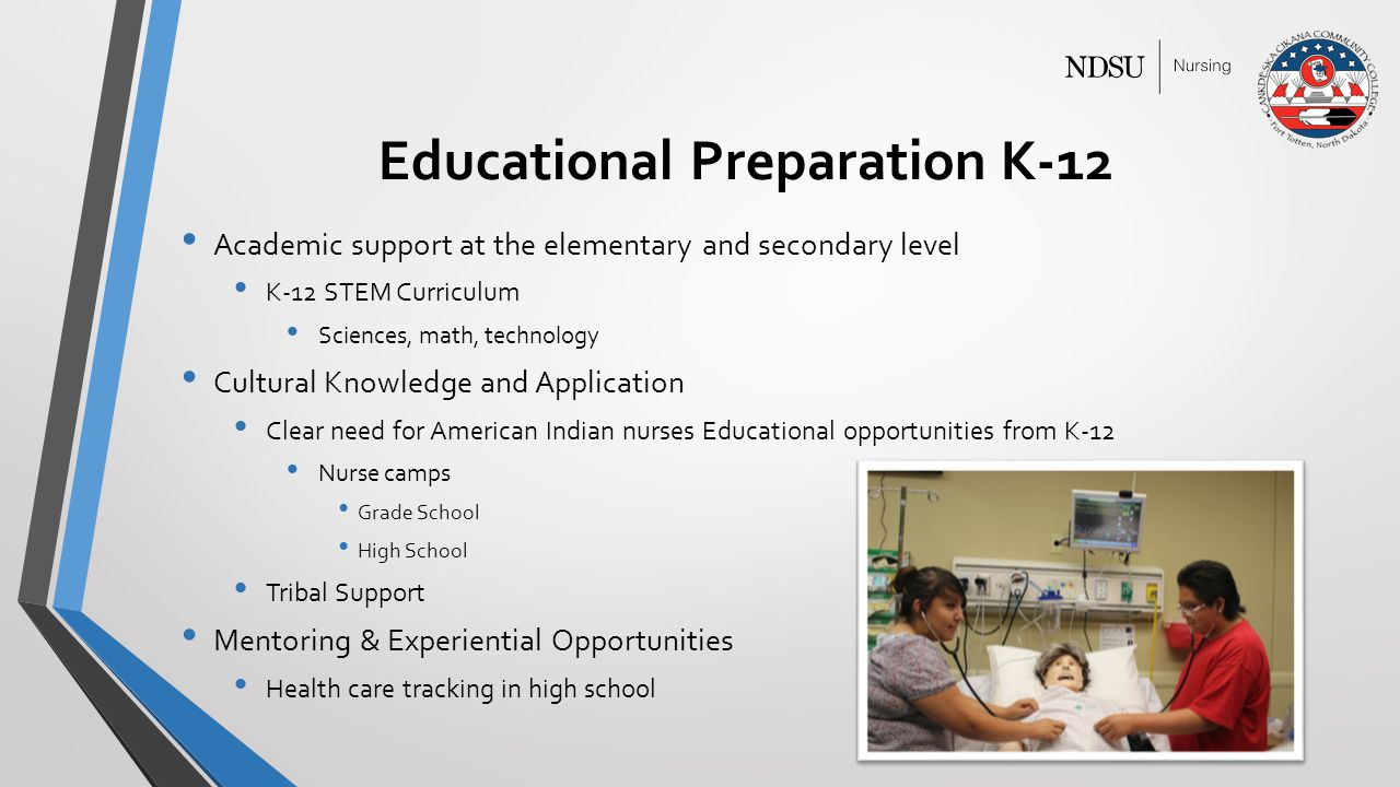 Educational Preparation K-12 Academic support at the elementary and secondary level K-12 STEM Curriculum Sciences, math, technology Cultural Knowledge