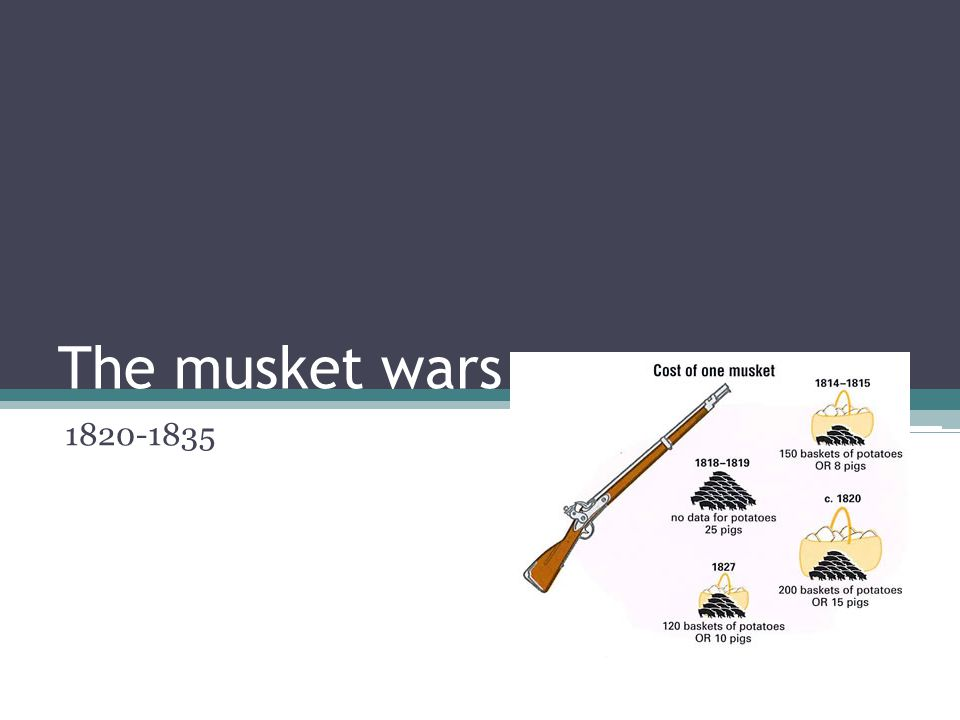 cont The many desperate tribes without the much-needed muskets to defend themselves soon found a way of obtaining these weapons.
