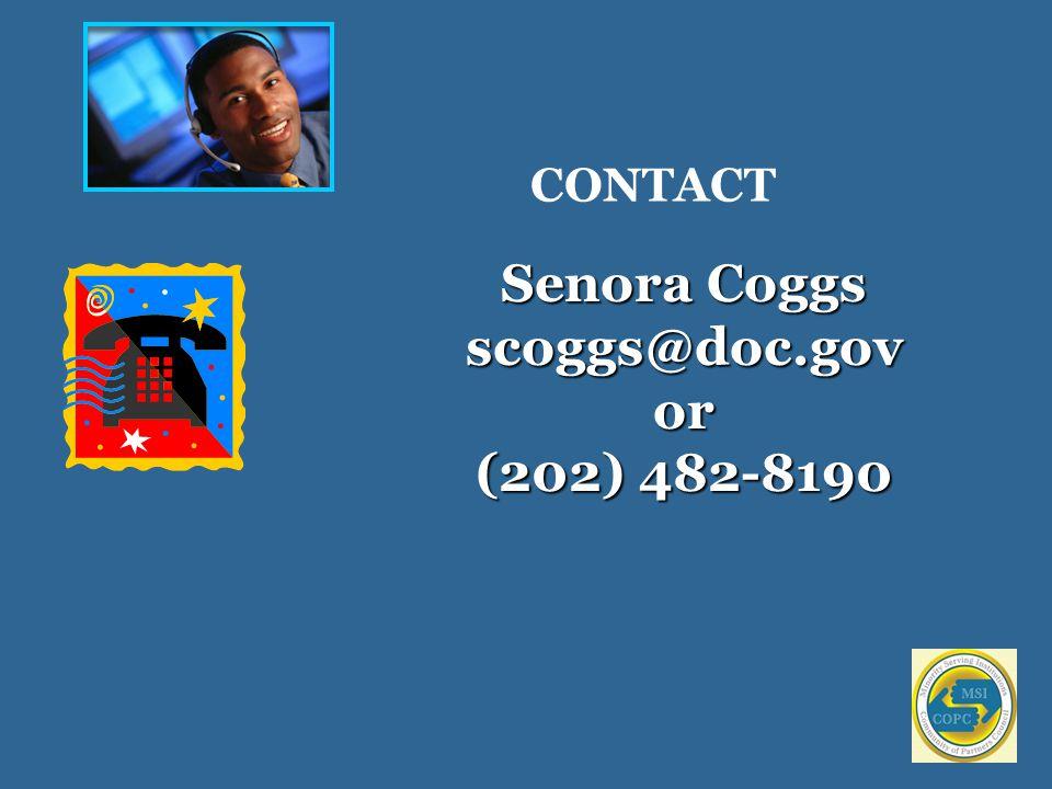 CONTACT Senora Coggs scoggs@doc.govor (202) 482-8190