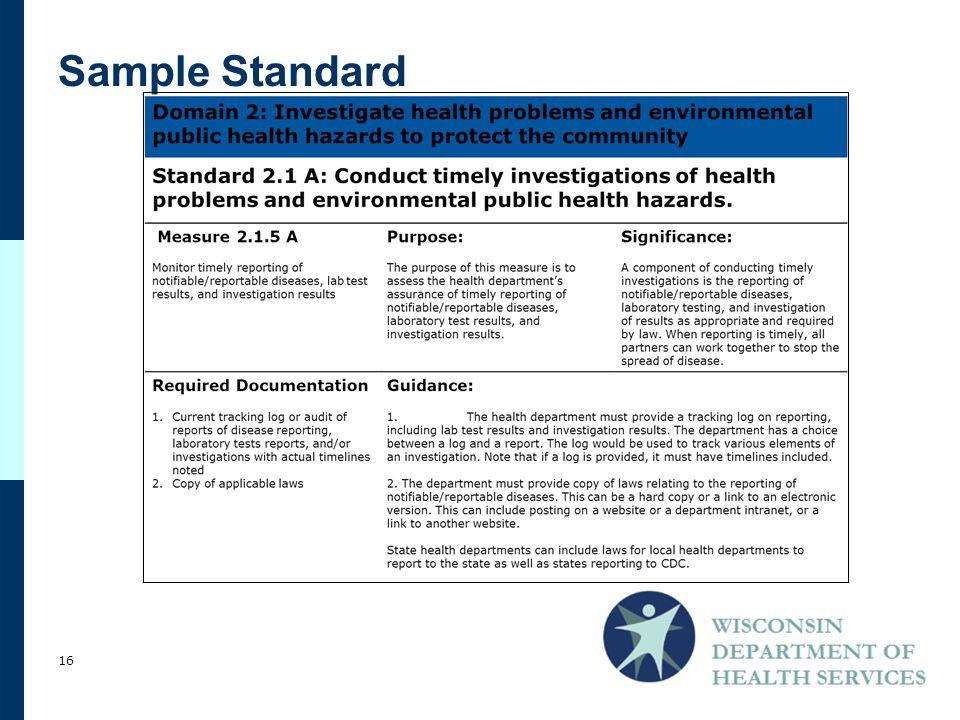 Sample Standard 16