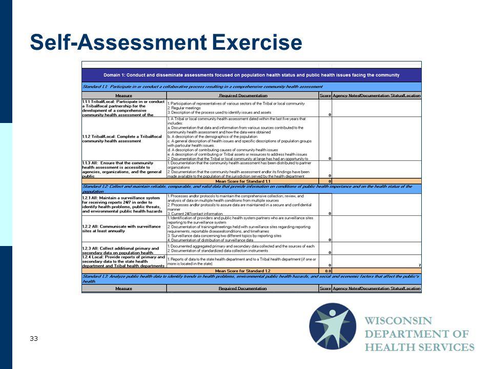 Self-Assessment Exercise 33