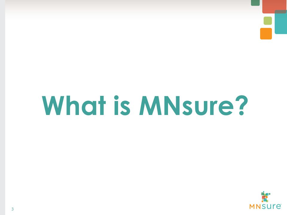 What is MNsure? 3
