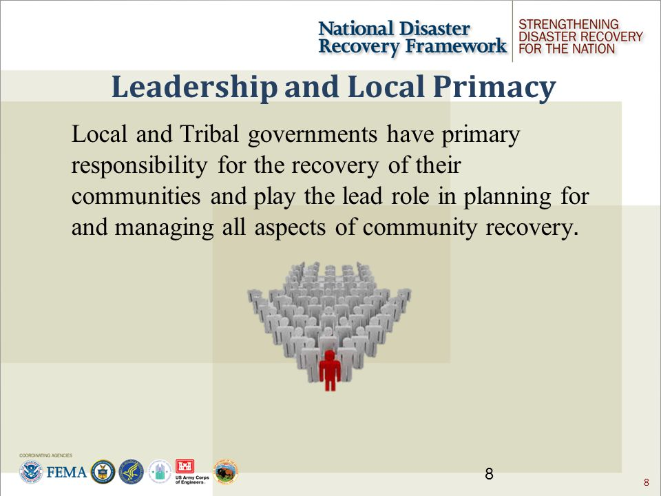 9 What role does the community play in disaster recovery Who is the community .