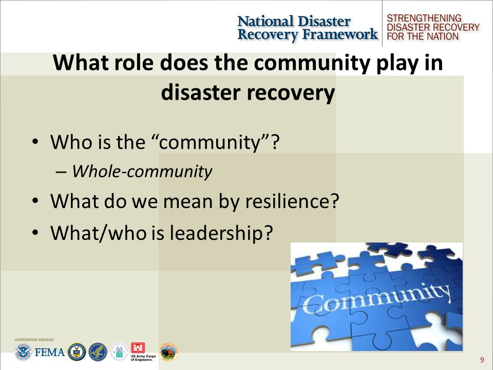 10 Factors of a Successful Local Recovery Effective Decision-making and Coordination.