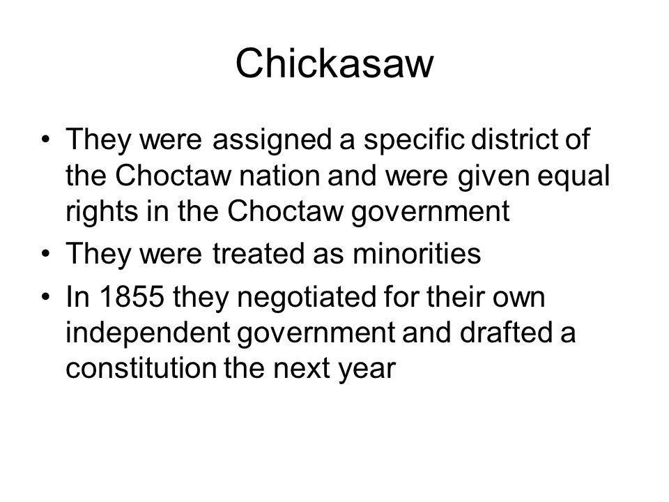 Cherokee Ross and his followers were not interested in the government of the Western and Treaty party Cherokees Ross wanted the old settlers and the Western Cherokee to join with him and forming new government –They refused –Members from the Treaty Party were murdered and it started a blood feud (think Hatfield's and McCoy's)