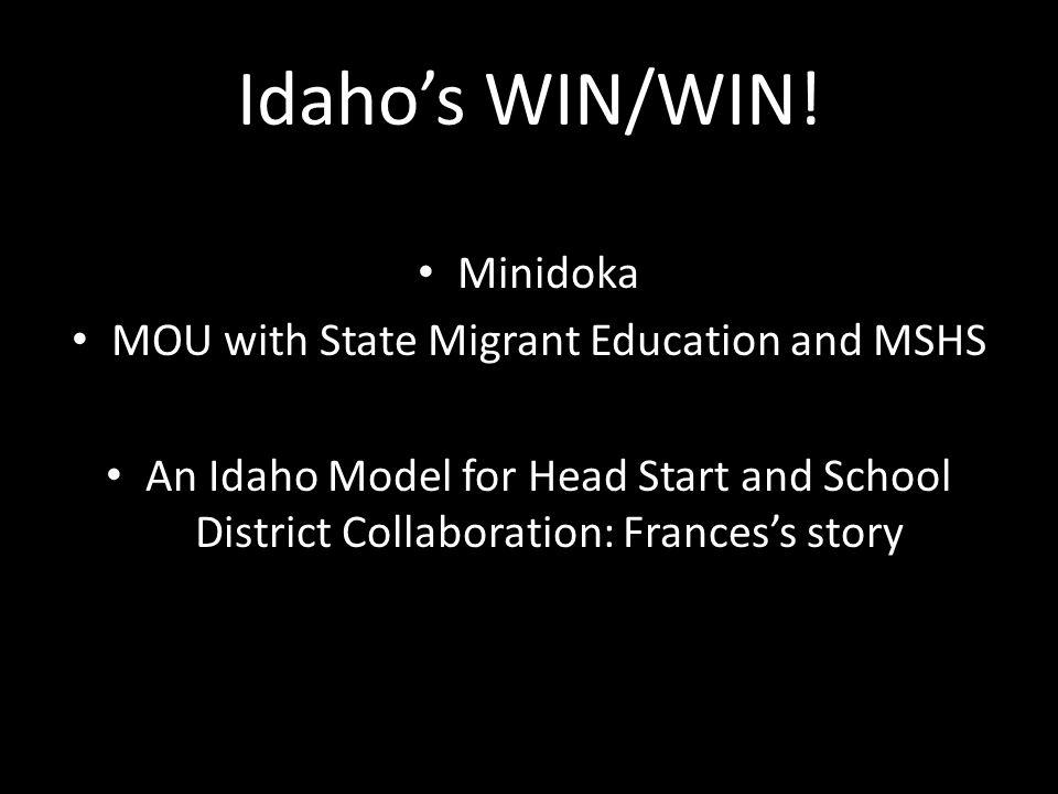Idaho's WIN/WIN.