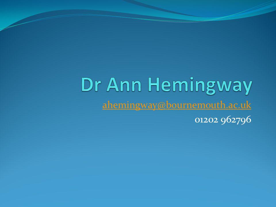 ahemingway@bournemouth.ac.uk 01202 962796