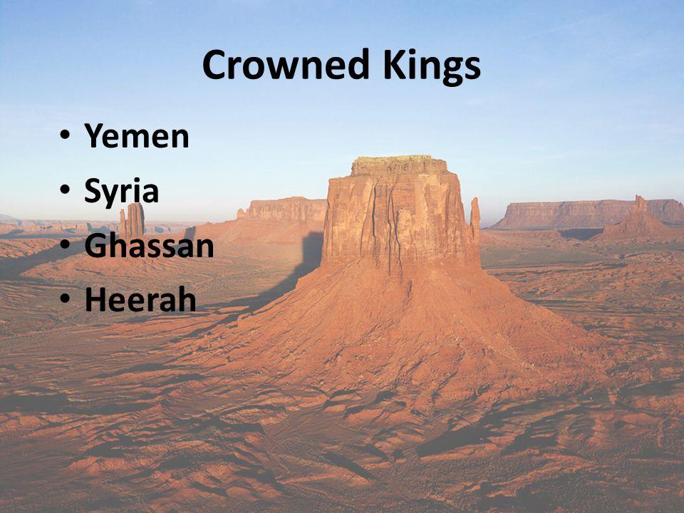 Crowned Kings Yemen Syria Ghassan Heerah