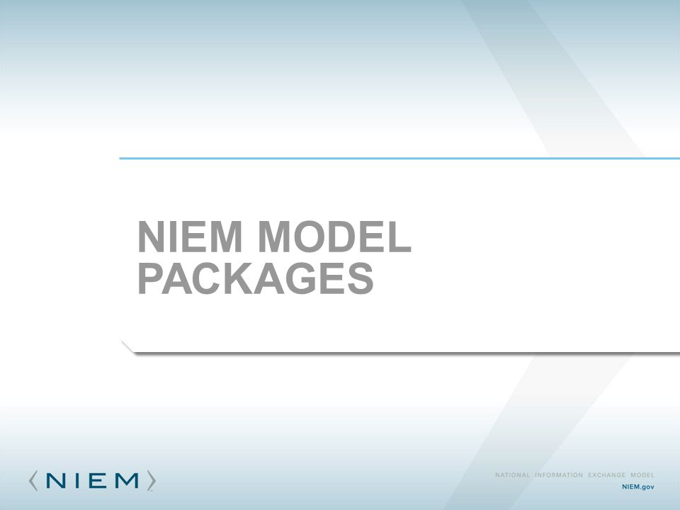 NIEM MODEL PACKAGES