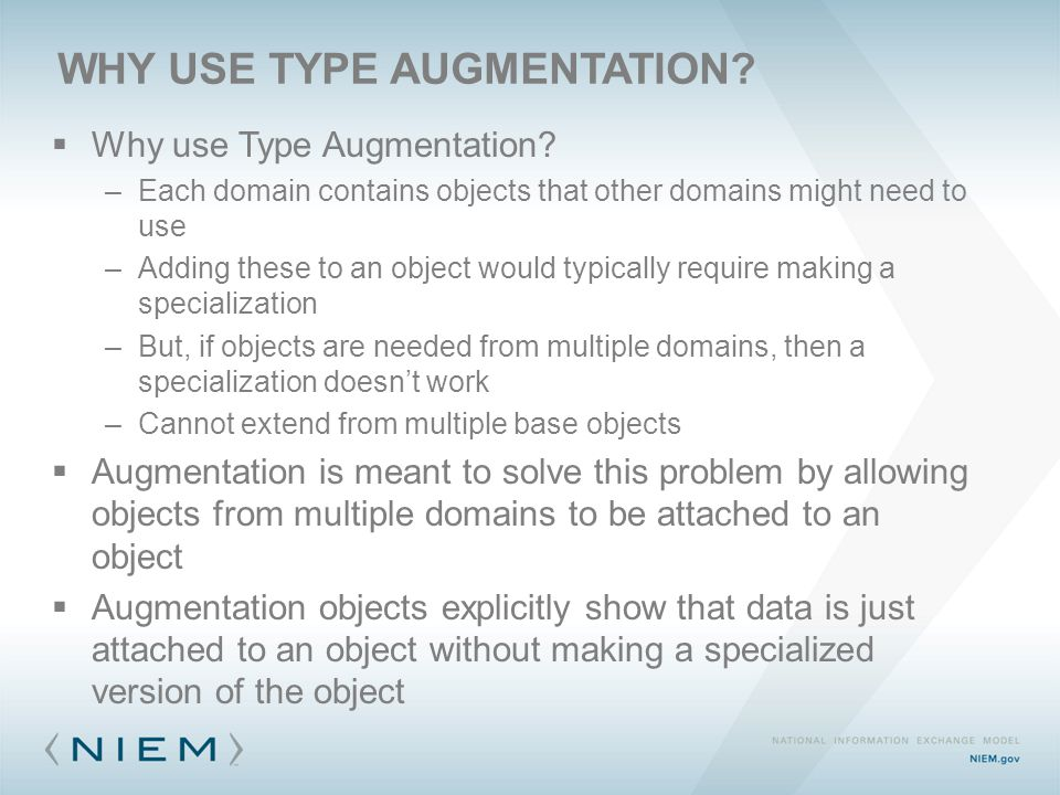 WHY USE TYPE AUGMENTATION.  Why use Type Augmentation.
