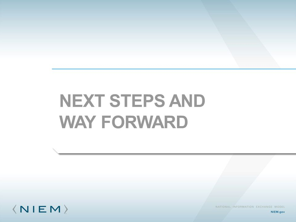 NEXT STEPS AND WAY FORWARD