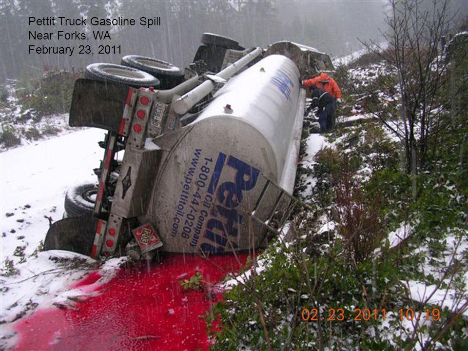 Pettit Truck Gasoline Spill Near Forks, WA February 23, 2011