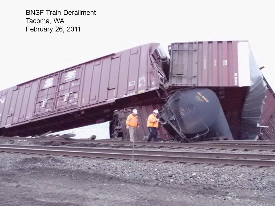 BNSF Train Derailment Tacoma, WA February 26, 2011