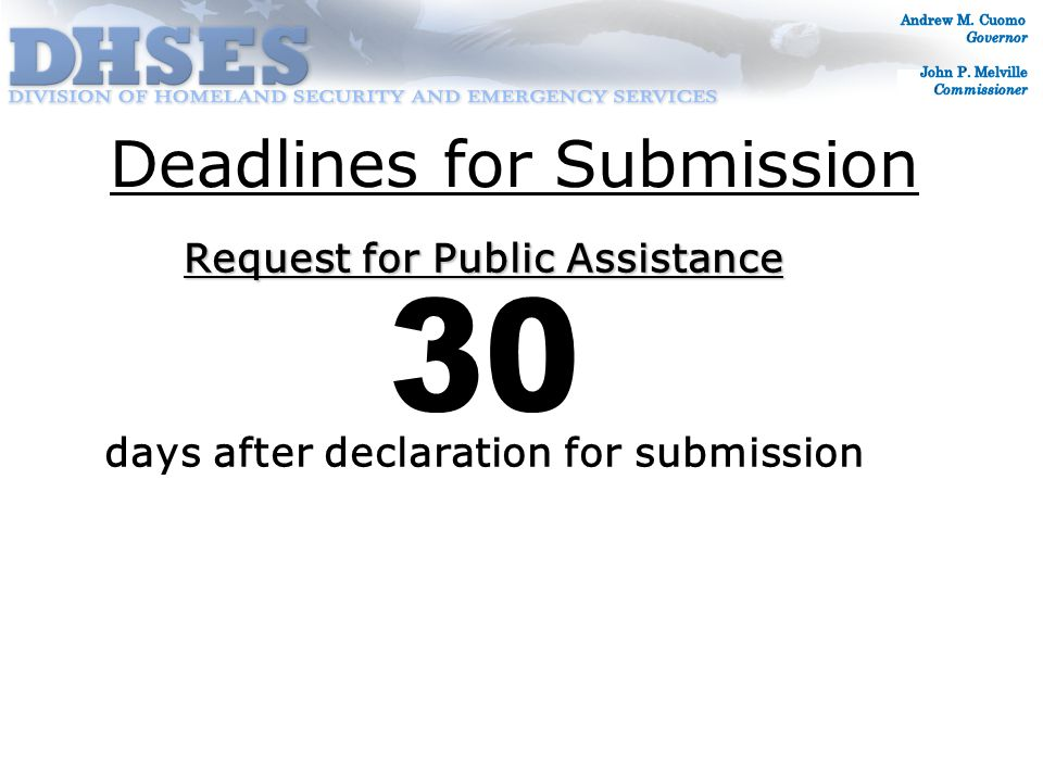 Permanent Work Category C - Road and Bridge Systems Category D - Water Control Facilities Category E - Public Buildings/Equipment Category F - Public Utilities Category G - Other-Parks, Recreation 18 Month Completion Deadline: June 22, 2016