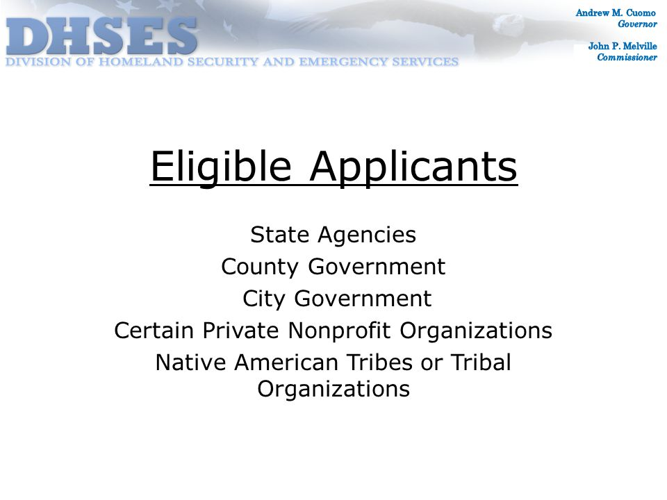 Special Considerations Insurance Proceeds (actual or anticipated) deducted from eligible project costs FEMA requires applicants to obtain and maintain insurance for future disaster damage