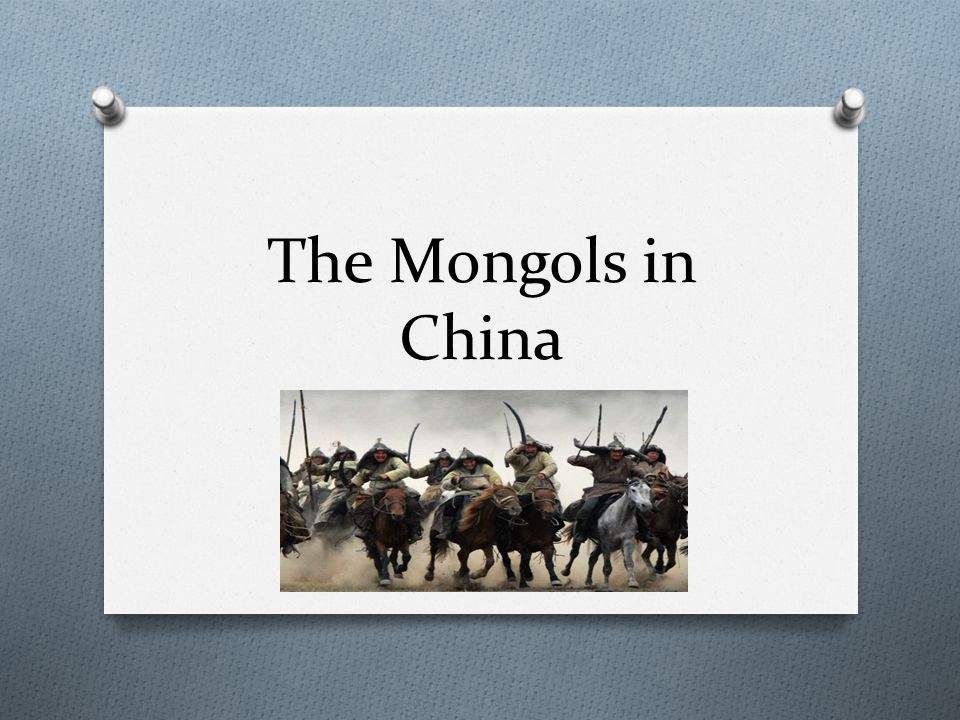 The Mongol Empire O Genghis Khan died in 1227 O Empire was divided among his 4 sons