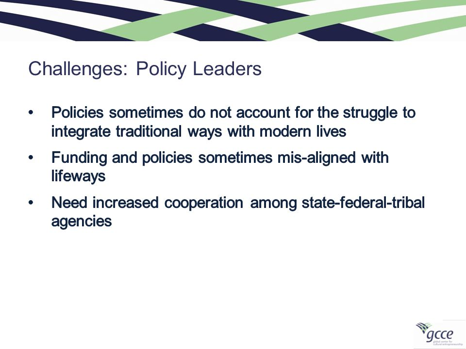 Challenges: Policy Leaders
