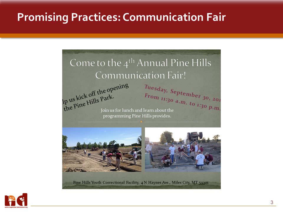 3 Promising Practices: Communication Fair