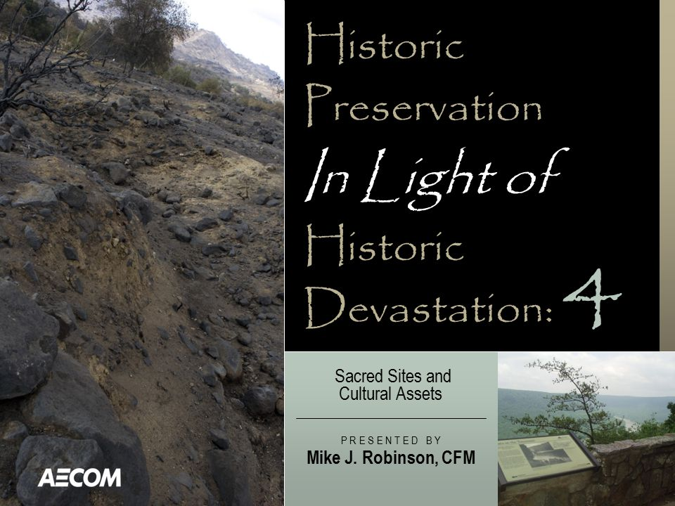 Historic Preservation In Light of Historic Devastation: Sacred Sites and Cultural Assets P R E S E N T E D B Y Mike J.