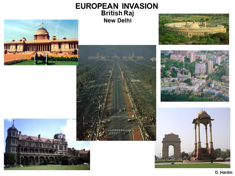 D. Hardin New Delhi EUROPEAN INVASION British Raj