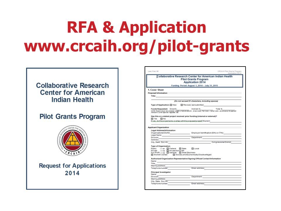 Collaborative Research Center for American Indian Health ADMINISTRATIVE DIVISION