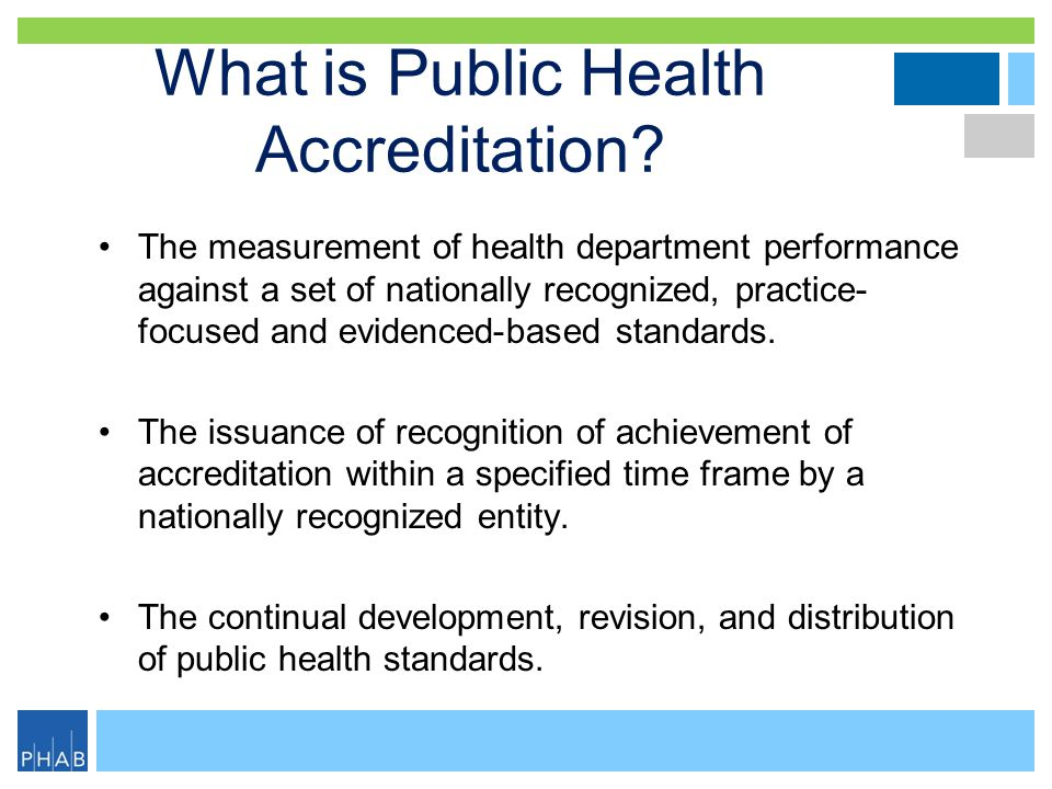 What is Public Health Accreditation.