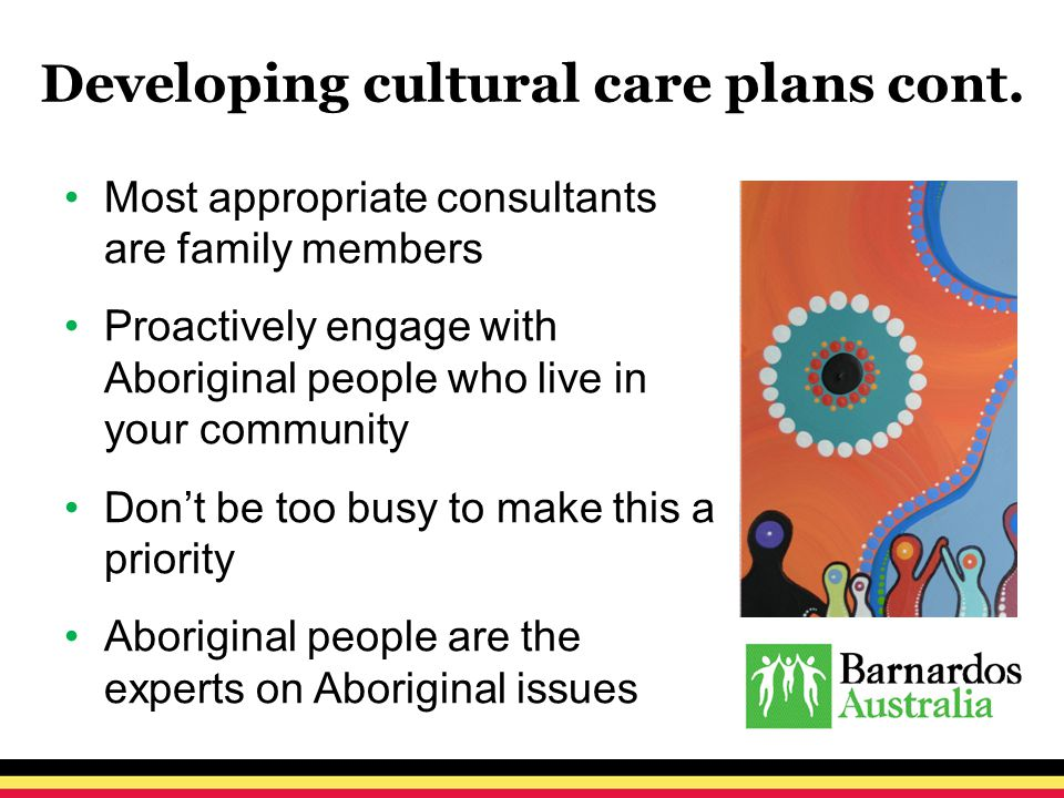 Developing cultural care plans cont.