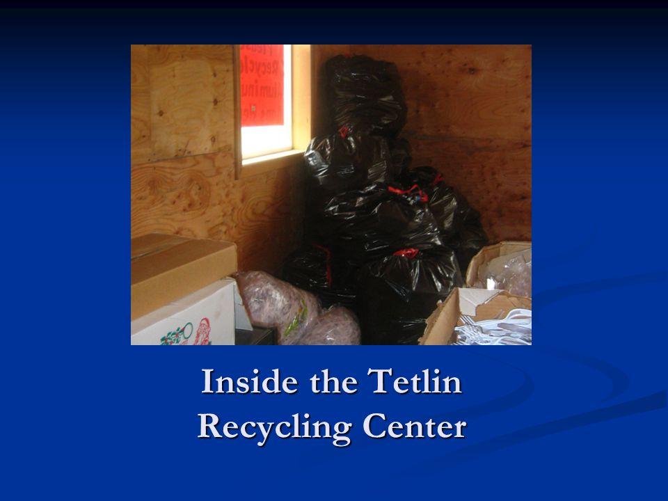 Inside the Tetlin Recycling Center