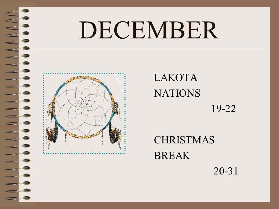 NOVEMBER VETERAN'S DAY 11 th THANKSGIVING BREAK 21-23
