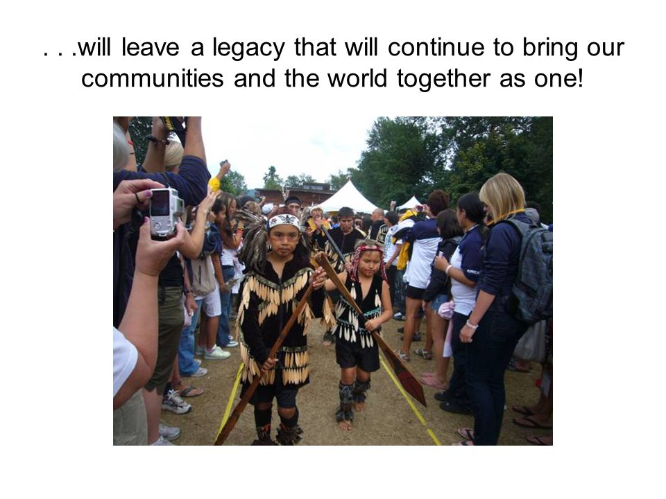 ...will leave a legacy that will continue to bring our communities and the world together as one!