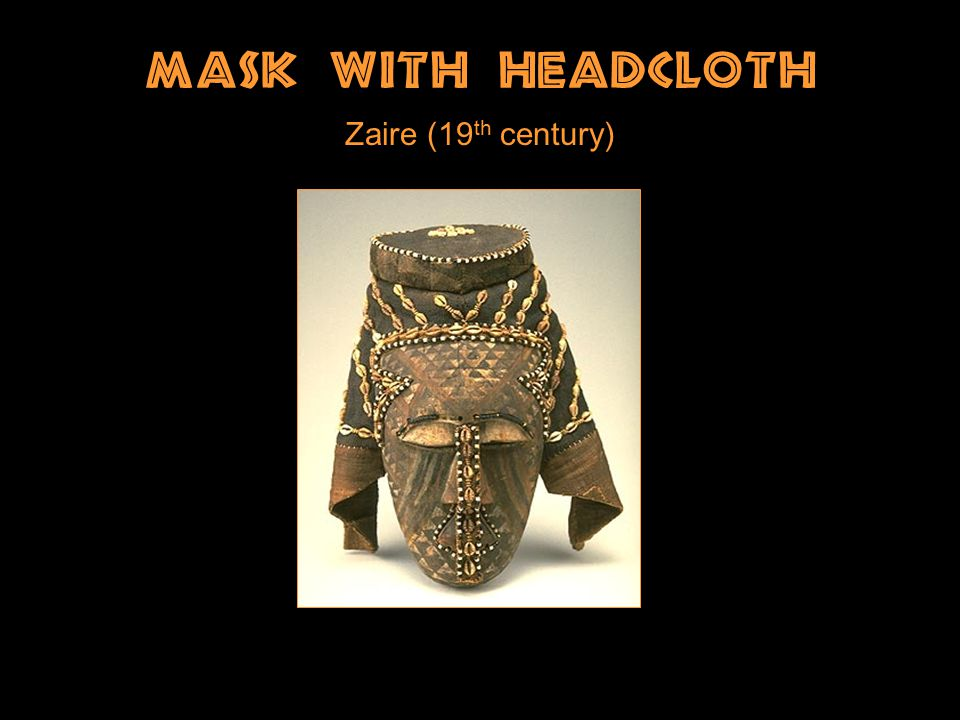 Mask With Headcloth Zaire (19 th century)