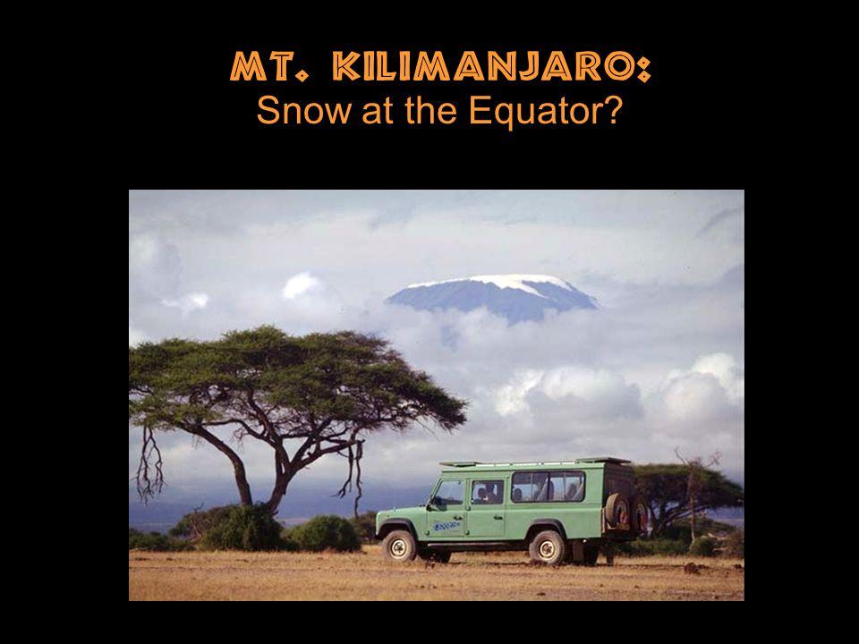 Mt. Kilimanjaro: Snow at the Equator