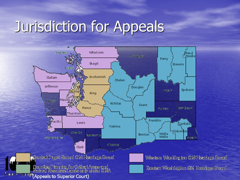 Jurisdiction for Appeals (Appeals to Superior Court)