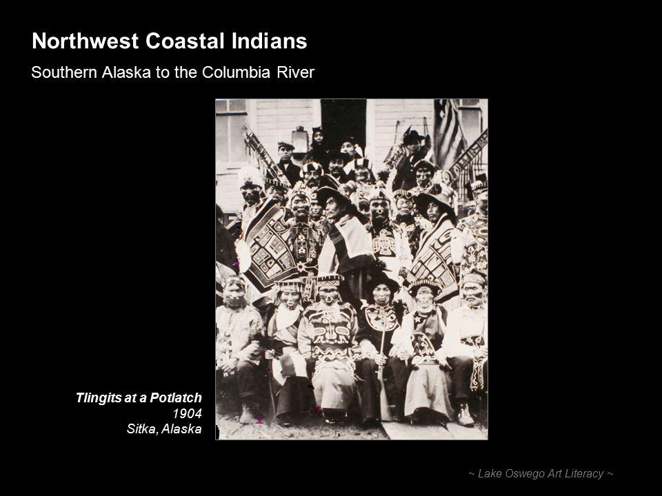 Northwest Coastal Indians Southern Alaska to the Columbia River ~ Lake Oswego Art Literacy ~ Totem Poles Kwakiutl Totem Pole Thunderbird form Alert Bay, British Columbia